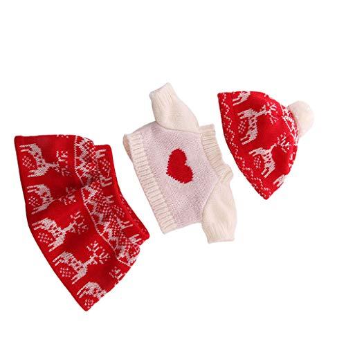 Puppe Winter Outfit Weihnachten Kostüm Set für 18 Zoll Mädchenpuppe - C ()