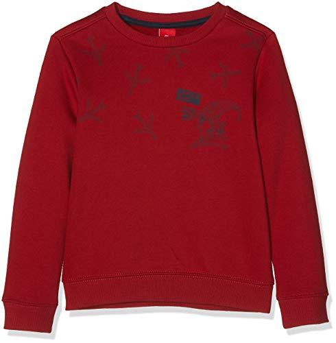 s.Oliver Jungen Sweatshirt 63.809.41.4882, Rot (Red 3580), 92