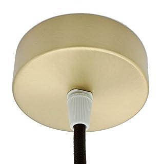 Anschlussdose Gold gebürstet Metall im Set mit Zubehör ø 80x25mm Verteilerbaldachin Aufputzdose Verteilerdose mit Zugentlastung Decken-Baldachin für Pendel-Lampen und Hänge-Leuchten Messing matt