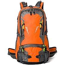 WuJiPeng Mochila De Trekking Para Escalada Al Aire Libre Para Caballeros Y Damas Gran Capacidad 40L 50L Mochila Para Camping Multifuncional Impermeable Y Resistente Al Desgaste,C-40L