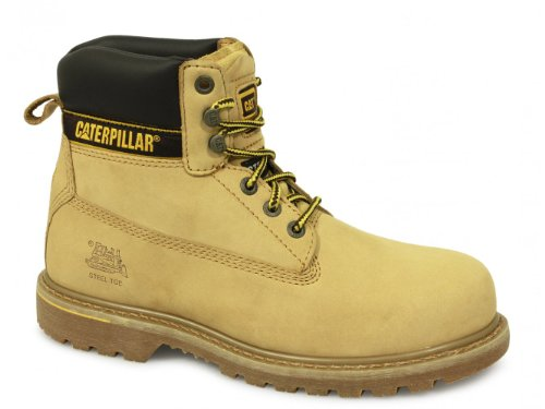 Caterpillar Men's HOLTON' 6 INCH NUBUCK SAFETY BOOTS Honey Nubuck