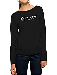 Computer Sweater Girls Black Certified Freak