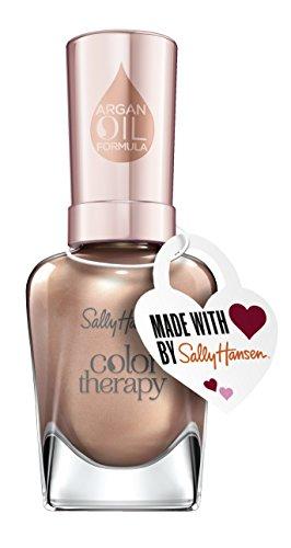 Sally Hansen Color Therapy Nagellack Pop the Prosecco mit pflegendem Arganöl, limitierte Valentines Day Edition mit Herzanhänger, Farbe 513, Nude, 1er Pack (1 x 14,7 ml)