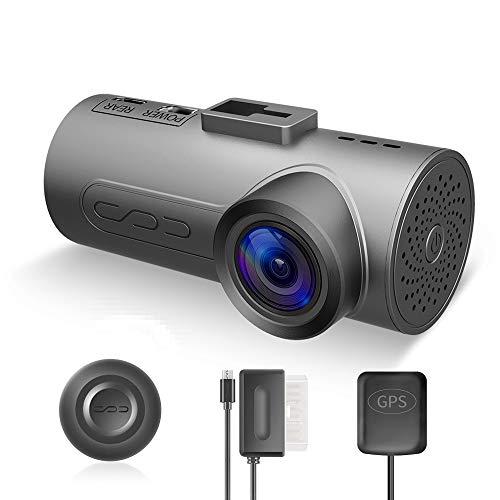 HaloCam Compatible with Sony IMX291 Sensor CMOS C1 Plus Dashcam Auto Kamera 1080p G-Sensor WLAN Kamera mit 170 Grad Weitwinkelobjektiv super klare Sicht Loop Recording Wlan-dash-fernbedienung