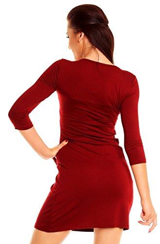 Zeta Ville - Abito a pieghe in jersey - vestito a taglio impero - donna - 080z Cremisi