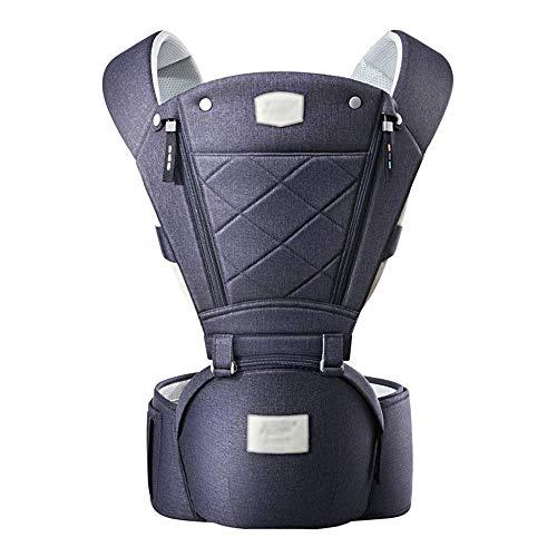 LXJJGF Marsupio, Passeggino Ergonomico 6-in-1 con Cinturino Bimbo Fascia Unisex (Color : Blue)