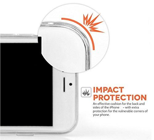 Pour iPhone 7 Coque, iPhone 7 Case Silicone, SevenPanda transparente TPU souple ajustement Parfait fin Bumper en caoutchouc souple chocs Scratch Résistent à clair mignon Creative coloré avec motif pei Fleur de Pêche 13