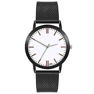 Herren-Uhren-Lolamber-Armbanduhr-fr-Herren-Damen-Slim-Uhr-Armband-Mnner-Edelstahl-Geschfts-Klassisch-Analog-Quarz-Dnn-Armbanduhr-Gents-Luxus-Elegant-Schwarz-Uhr-mit-Wei-Zifferblat