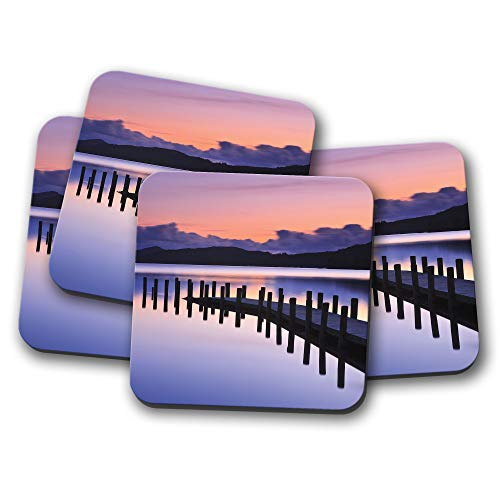 Untersetzer Coniston Water Sunset – Lake District England UK Fun Gift #14247 -