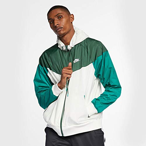 Nike Herren M NSW HE WR JKT HD Jacket, Sail/Fir/Mystic Green, XL