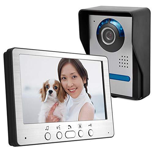 TLgf Video-Türklingel, ultradünne 7-Zoll-TFT-LCD verdrahtete Video-Türklingel HD Villa Video-Intercom-Außeneinheit Winkel verstellbaren 700 Line Kamera-Sensor Intercom-außeneinheit