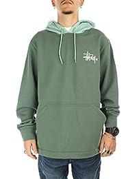 Stussy Two Tone Hooded Sweatshirt Green b9087713cde