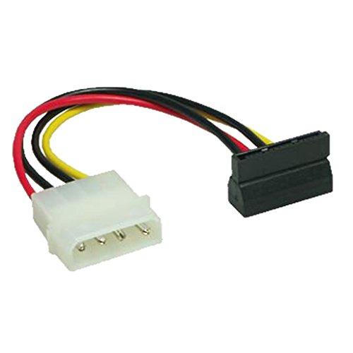 Sata-computer-netzteil (PC Netzteil S-ATA Stromkabel Faconet® intern Molex 1x 4pin Stecker auf 1x S-ATA 15pin Buchse gewinkelt (3 Stck))