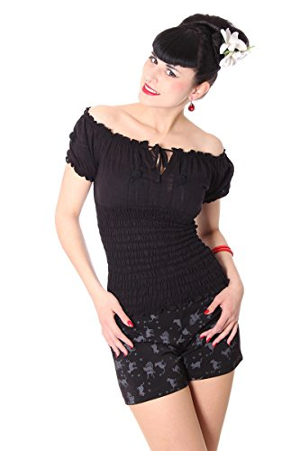 SugarShock Pin Up 40s retro Noelle Gypsy Carmen Blusenshirt Rockabilly Shirt -