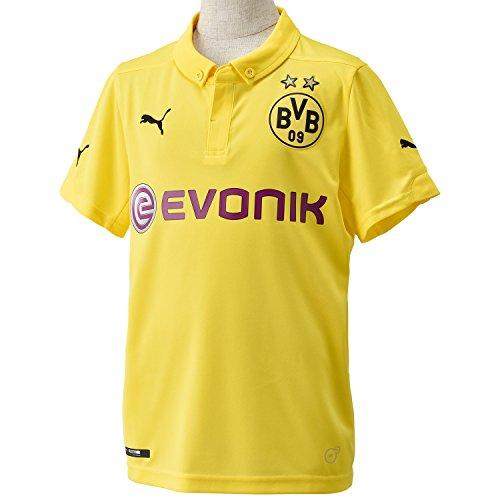 Puma Kinder Trikot BVB Kids Home Replica Int\'l Shirt, Cyber Yellow-Black, 164, 745903 01