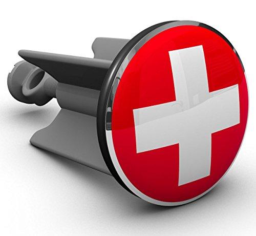 Plopp Waschbeckenstöpsel Schweizer Kreuz, Stöpsel, Excenter Stopfen, für Waschbecken, Waschtisch, Abfluss
