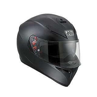 AGV 0301A4EY_002_MS K-3 SV E2205 Solid Helm, Matt Black, Größe MS