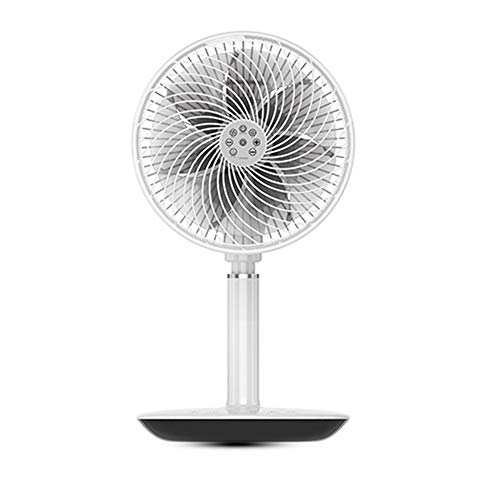 Ventilateurs Sur Pied, Circulation D'air Ventilateurs Sur Piédestal, Table De Ventilateur Domestique Silencieuse Ventilateur De Sol, Air Pur, Blanc