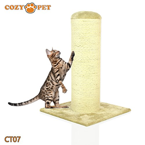 Cozy Pet Deluxe Fat Boy Super Large Cat Scratching Post Scratcher Activity Centre with Heavy Duty Sisal in Beige XXL