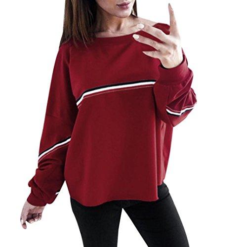ESAILQ Damen Sommer Reißverschluss Tank Crop Tops Vest Tanktops Weste Cami Oberteile T-Shirt Geburtstags Geschenk Für Frauen Mädchen Freundin(M,Rot)
