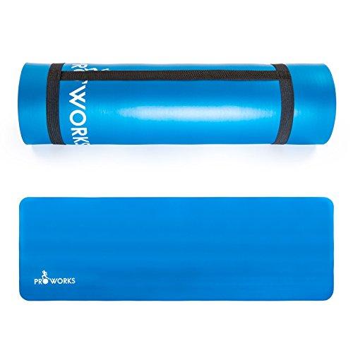 proworks-grosse-gepolsterte-yoga-matte-fur-pilates-gymnastik-mit-trage-gurt-blau