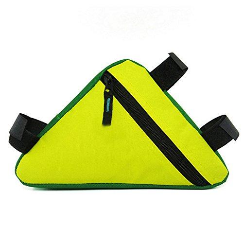 Hrph Wasserdichte Outdoor-Dreieck Radfahren Fahrrad Frontseiten -Schlauch Rahmentasche Mountain Bike Tool Kit Pouch Yellow