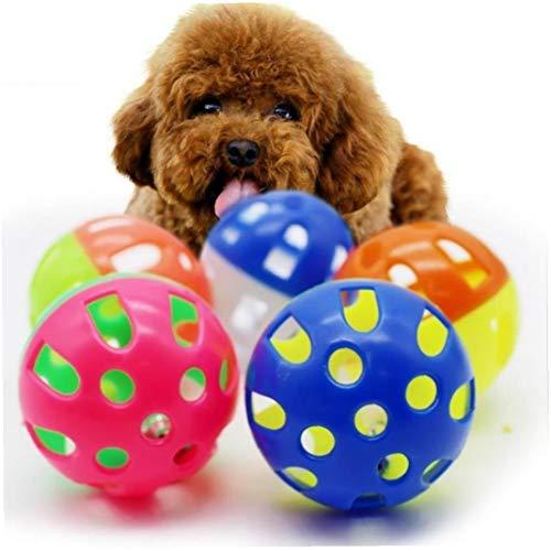 Angoter 1PCS Katzen Spielzeug Hohle Glocke Lustige Kunststoff Interactive Kugel Geklingel Welpen Spielen Produkte Dia 3 cm Haustiere Lieblings Zubehör zufällige Farbe