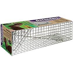 Defenders - Animal Trap Cage (trampa humana fácil de colocar para visón y fauna silvestre de tamaño similar, apta para uso en interiores y exteriores) - Tamaño mediano