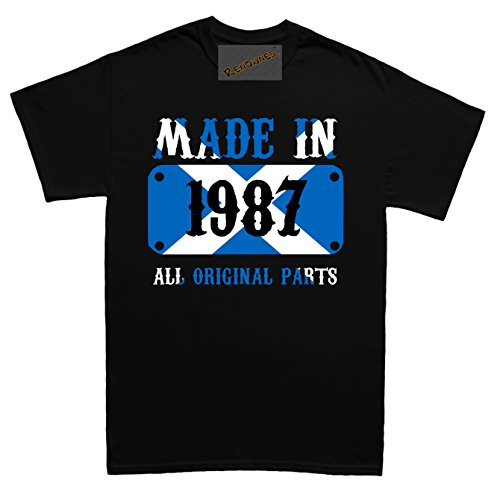 Renowned Made in Scotland in 1987 all original parts Unisex - Kinder T Shirt Schwarz