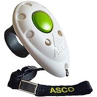 ASCO Premium Clicker, Finger Clicker für Clickertraining, Hunde Katzen Pferde Profi Clicker, Hundetraining Klicker weiß AC05F