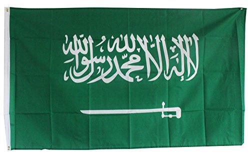 Fahne Flagge Saudi-Arabien 0,90m x 1,50m mit Metallösen zum Aufhängen (0140615)