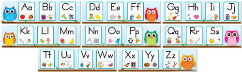 Colorful Owls Alphabet Mini Bulletin Board Set (Mini Vitamine Adult)