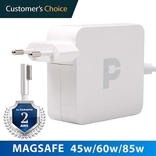 Magsafe 85w - Ladekabel MacBook Pro 15' | 2 Jahre Garantie auf 45w Magsafe Power Adapter | Zertifiziertes Ladekabel für Apple MacBook pro 15' bis Mitte 2012