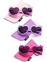 f16498b739 Kids Girls Heart Sunglasses w Bow Cute Heart Shaped Sunglasses for Girls w  Pouch