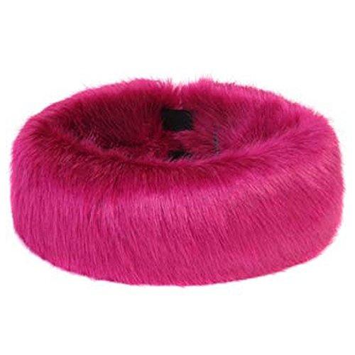 Donna elasticizzati arte pelliccia fronte band - disponibile in diversi colori heller rosa taglia unica