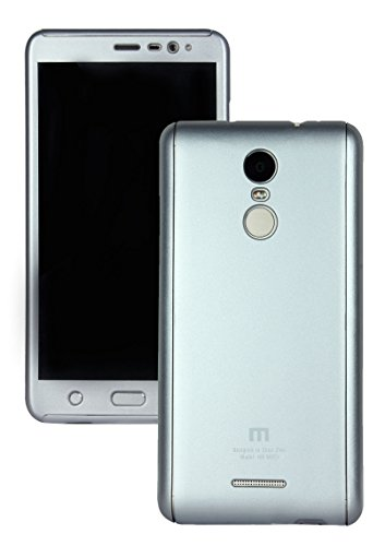 Heartly 2 Pcs Design Double Dip Flip Hard Shell Premium Bumper Back Case Cover For Xiaomi Redmi Note 3 - Champagne Silver  available at amazon for Rs.449