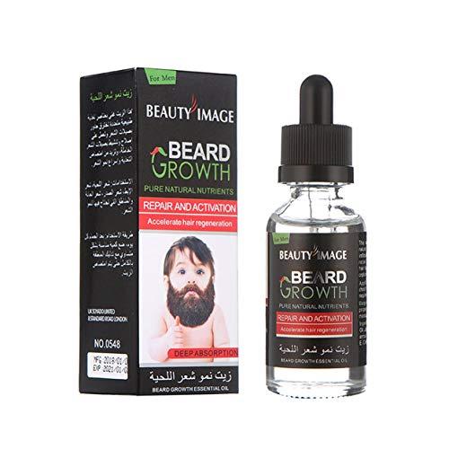 LoveOlvidoD Sexy Bart Schnurrbart Brust Haarwachstum Essenz Flüssigkeit Dicker Essenz Öl Enhancer 40ml Feuchtigkeitscreme Starke Verlängerung