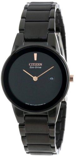 "Citizen Women's GA1055-57F Eco-Drive""Axiom"" Black Stainless Steel Watch"