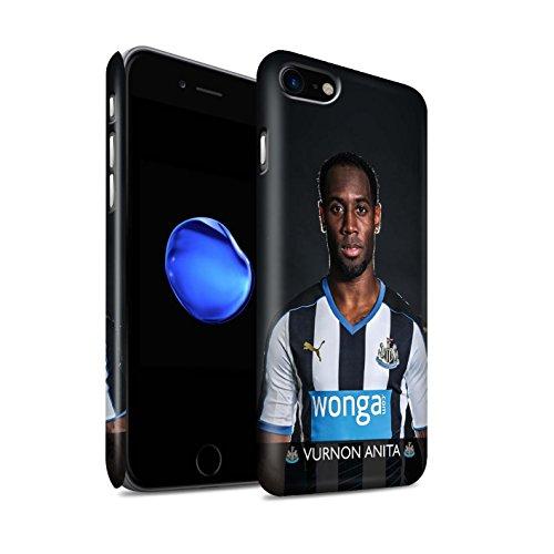 Offiziell Newcastle United FC Hülle / Matte Snap-On Case für Apple iPhone 7 / Mbemba Muster / NUFC Fussballspieler 15/16 Kollektion Anita