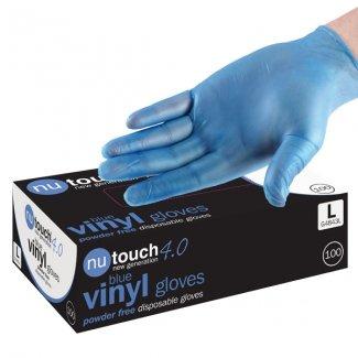 taglia-xlarge-500-nutouch-4-miglior-prezzo-blu-guanti-usa-e-getta-in-vinile-senza-polvere-preparazio