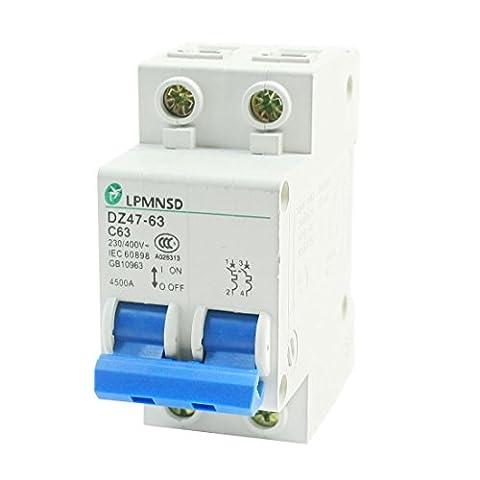 AC 400V 63A ON/OFF Schalter 2Satz C Typ Mini Circuit Breaker 4500A (Elektrische Breaker Ersatz)