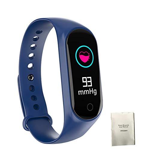 Pulsera Actividad Impermeable IP68, M3S Pulsera Inteligente con Pulsómetro, Monitor de Calorías, Sueño ,Podómetro, Monitor de Ritmo Cardíaco, Alarmas, Notificación de mensajes para Android y IOS