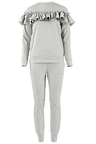 kids-childrens-girls-ruffle-frill-loungewear-2-piece-jogger-set-uk-size-2-13-5-6-years-grey