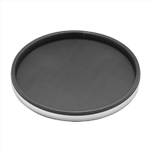 Kraftware 67530 Sophisticates Schwarz mit poliertem Chrom Deluxe 14 Zoll Tray (Tray 14 Deluxe Zoll)