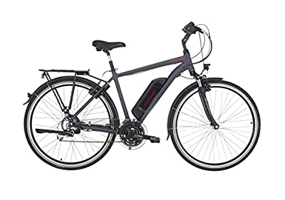 "Fischer Herren - E-Bike Trekking ETH 1806 (2019), dunkel anthrazit matt, 28"", RH 50 cm, Hinterradmotor 45 Nm, 48 Volt Akku, 422 Wh"