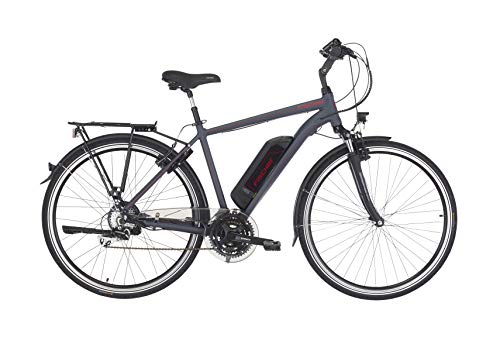 "Fischer Herren - E-Bike Trekking ETH 1806 (2019), dunkel anthrazit matt, 28\"", RH 50 cm, Hinterradmotor 45 Nm, 48 Volt Akku, 422 Wh"