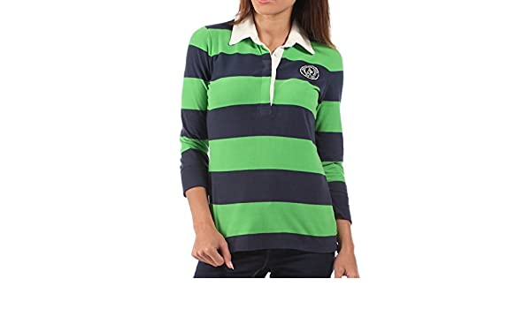 e480a03184a440 Abercrombie & Fitch Womens Rugby Shirt Green Blue Striped: Amazon.co.uk:  Clothing