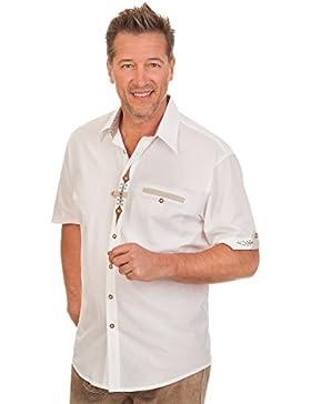 Trachten Herren Hemd mit 1/2 Arm - WOLFGANG - weiß