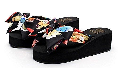 pengweiFrauen k¨¹hlen Pantoffeln Hang mit Clip Fu? Sommer Schmetterling Knoten ziehen Strand Schuhe 1