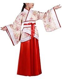 Yudesun Antiguo Chino Royal Bata - Niñas Princesa Tang Dinastía Hanfu Flor Escuela Baile Actividades Cosplay